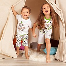 Kinderbutt single jersey 4-pc short pyjamas set