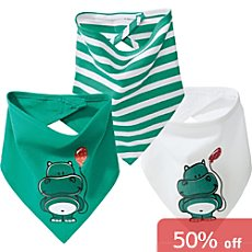 Erwin Müller  3-pack kids triangle neck scarves