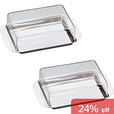 CHG  2-pack butter dishes