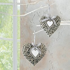 2-pack willow hearts