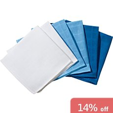 Erwin Müller  6-pack muslin cloths