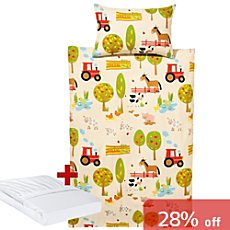 Baby Butt 3-pc toddler duvet cover set, farmyard