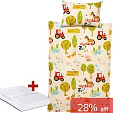 Erwin Müller 3-pc toddler duvet cover set, farmyard