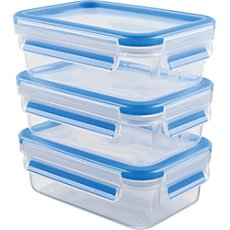 Emsa  3-pc food container set, Clip & Close