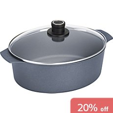 Woll  induction roaster with glass lid