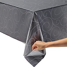 transparent vinyl clear tablecloth by the meter