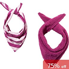 Erwin Müller  2-pack kids triangle neck scarves