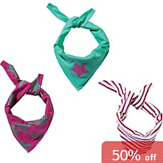 Kinderbutt  3-pack triangle scarves