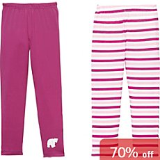 Erwin Müller  2-pack girls long underwear bottoms
