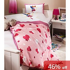 Kinderbutt cotton flannelette reversible duvet cover set