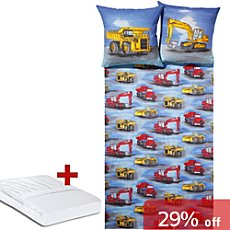 3-pc children duvet cover set, digger