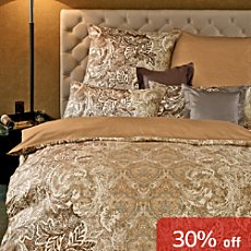 Curt Bauer Egyptian cotton sateen reversible duvet cover set Yelena