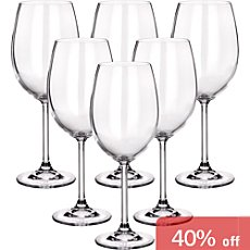 6-pack Bordeaux wine glasses