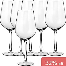 6-pack red wine glasses
