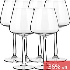 6-pack Burgundy wine glasses
