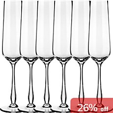 6-pack sparkling wine glasses