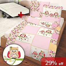 3-pc children duvet cover set, owl