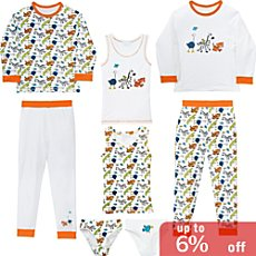 Erwin Müller jersey 8-piece girls pj & underwear set
