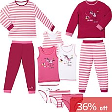 Erwin Müller jersey 10-piece girls pj & underwear set