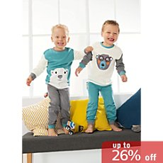 Kinderbutt interlock jersey sleepsuits in double pack