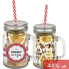 Pack of 2 Könitz glasses with straw