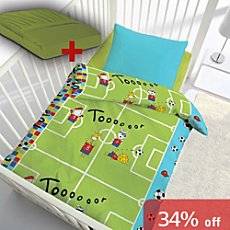 3-pc duvet cover set, football
