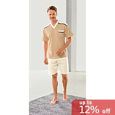 Götting single jersey men's short pyjamas