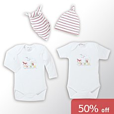 Baby clothing in a gift box, 4-parts