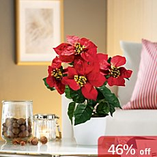 artificial poinsettia
