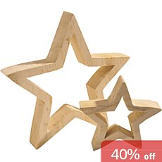 2-pack decoration stars