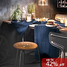 REDBEST denim table runner