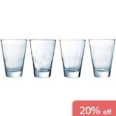 4-pack whisky glasses