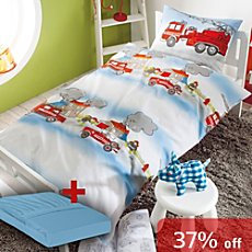 3-pc children duvet cover set, fire brigade