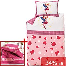 Kinderbutt girl´s bedding & towel set, fairy