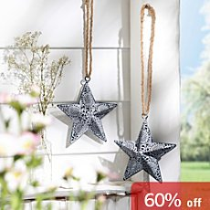 2-pack hanging decoration stars