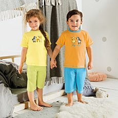 Kinderbutt single jersey 4-pc short pj set