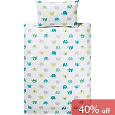 Erwin Müller baby & toddler duvet cover set, elephant