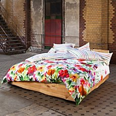 Estella Egyptian cotton sateen duvet cover set Aquarell