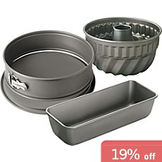 Kaiser Backen  cake tin set 3-parts