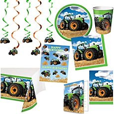 birthday party set tractor 62-parts