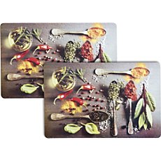 wipe-clean 2-pack table mats