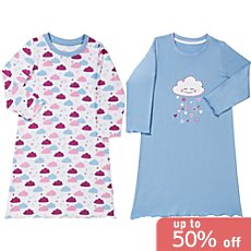 Kinderbutt single jersey 2-pack nightshirts
