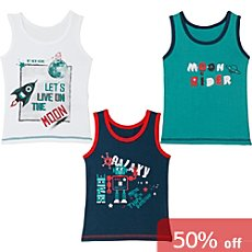 Erwin Müller  3-pack kids underwear vests