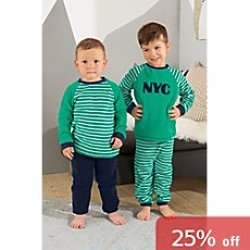 Kinderbutt terrycloth sleepsuits in double pack