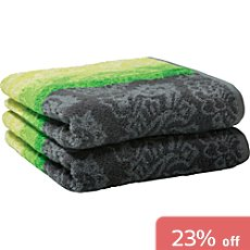 Pack of 2 Erwin Müller hand towels, paisley