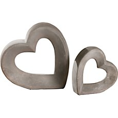 2-pack figurines heart