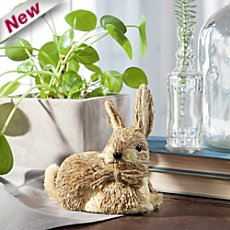 figurine straw rabbit