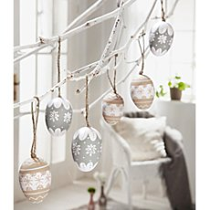6-pk hanging decoration eggs
