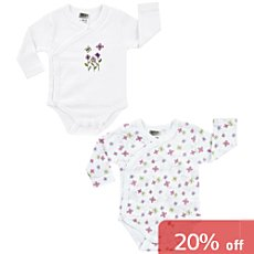 Boley  2-pack baby wrap bodysuits