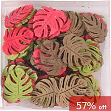 wood scatter decoration water lily 36 parts